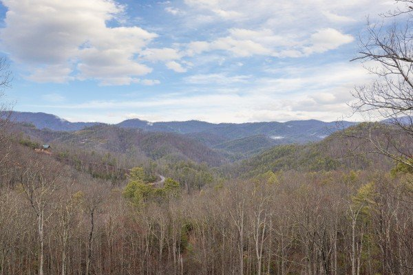 Mountain view at Heavenly Homestead, a 4 bedroom cabin rental located in Pigeon Forge