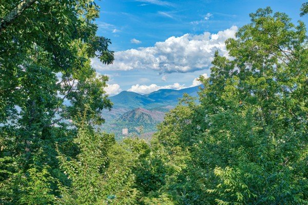 Mountain views from Bushwood Lodge, a 3-bedroom cabin rental located in Gatlinburg