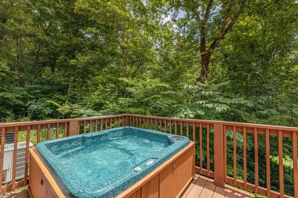 Hot tub at Around the Bend, a 3 bedroom cabin rental located in Pigeon Forge
