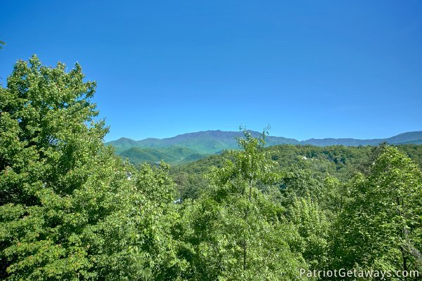 Smoky Mountain views from at Chalet Mignon, an 8-bedroom cabin rental located in Gatlinburg