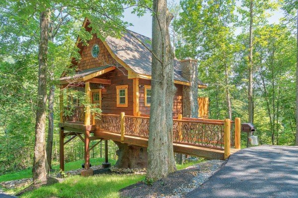 at gatlinburg treehouse a 1 bedroom cabin rental located in gatlinburg