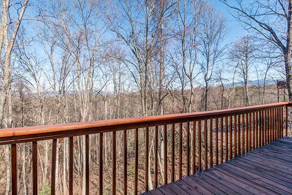Winter Smoky Mountain view at Sunny Side Up, a 2 bedroom cabin rental located in Gatlinburg