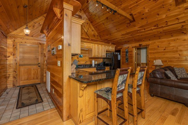 Breakfast bar for two at Private Indulgences, a 2 bedroom cabin rental located in Gatlinburg