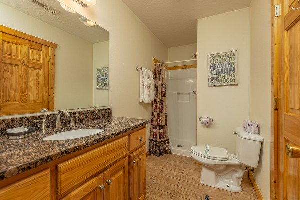 Bathroom with a shower at Private Indulgences, a 2 bedroom cabin rental located in Gatlinburg
