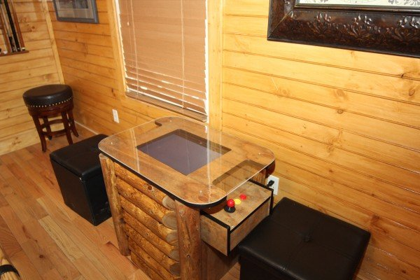 Multicade arcade game at Lucky Logs, a 3 bedroom cabin rental located in Gatlinburg