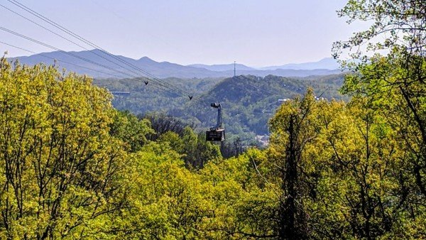 See the Gatlinburg Aerial Tram at Soaring Heights, a 3 bedroom cabin rental located in Gatlinburg