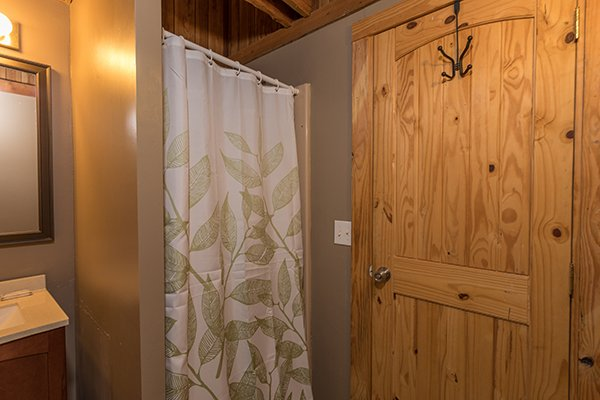 Loft bathroom at Soaring Heights, a 3 bedroom cabin rental located in Gatlinburg