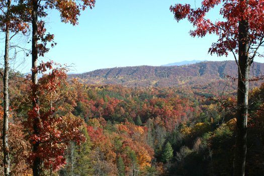 fall season view of smoky mountains from alpine romance a 2 bedroom cabin rental located in pigeon forge
