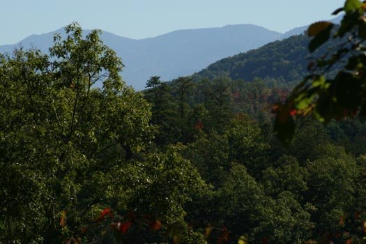 spring season view of smoky mountains from alpine romance a 2 bedroom cabin rental located in pigeon forge