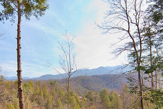 Mountain views seen from Highlander, a 4 bedroom cabin rental located in Gatlinburg