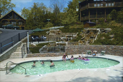 resort pool access when staying at highlander a 4 bedroom cabin rental located in gatlinburg