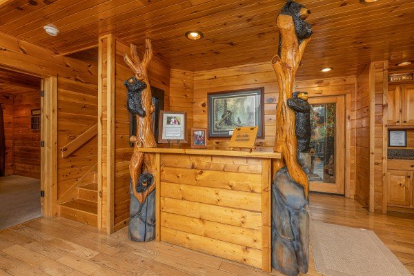 Entryway at Rainbow's End, a 4 bedroom cabin rental located in Pigeon Forge