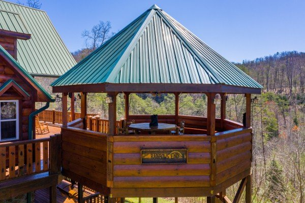 Gazebo at Rainbow's End, a 4 bedroom cabin rental located in Pigeon Forge