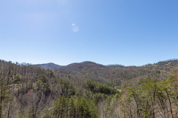 Mountain view at Rainbow's End, a 4 bedroom cabin rental located in Pigeon Forge