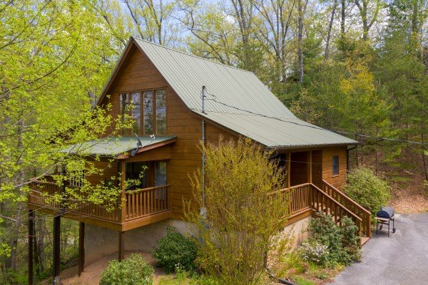 Exterior of cabin at Hillside Haven, a 1 bedroom cabin rental located in Pigeon Forge
