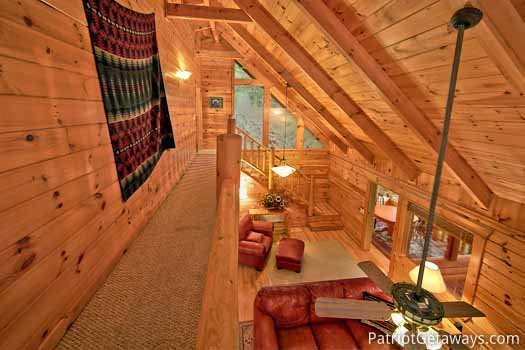 View of from the catwalk at Black Bear Magic, a 4-bedroom cabin rental located in Gatlinburg