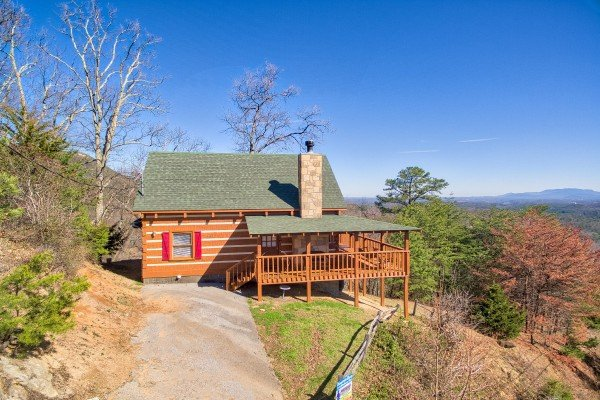 Cabin with the mountains at Mountain Glory, a 1 bedroom cabin rental located in Pigeon Forge