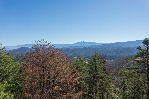 View of Mount LeConte at Mountain Glory, a 1 bedroom cabin rental located in Pigeon Forge