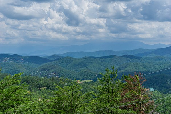 Smoky Mountain view as seen from Mountain Glory, a 1 bedroom cabin rental located in Pigeon Forge