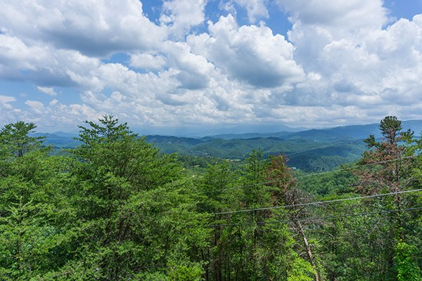 Smoky Mountain view at Mountain Glory, a 1 bedroom cabin rental located in Pigeon Forge