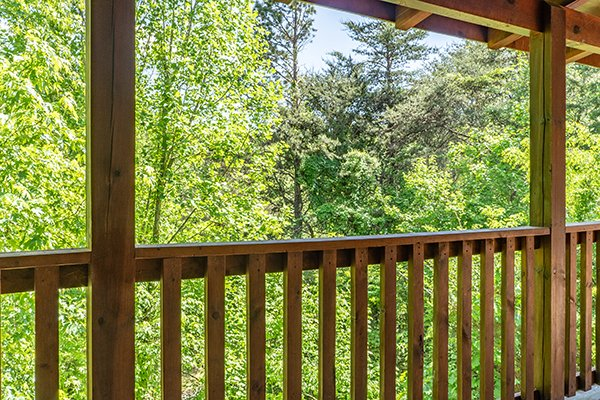 Wooded view at Livin' Simple, a 2 bedroom cabin rental located in Pigeon Forge
