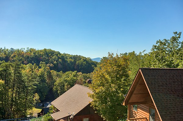 View from the deck at I Do, a 1 bedroom cabin rental located in Pigeon Forge
