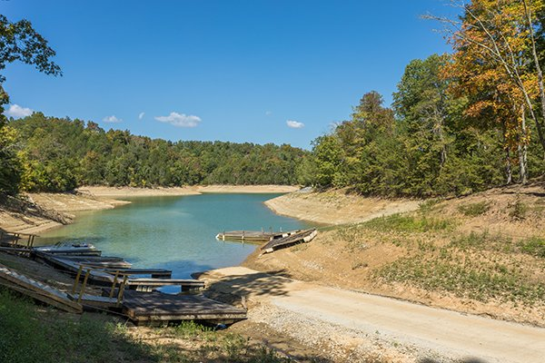 Boat launch use for guests of Lake Life, a 4 bedroom cabin rental located in Sevierville