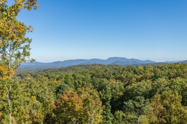 Mountain view at Panorama, a 2 bedroom cabin rental located in Pigeon Forge