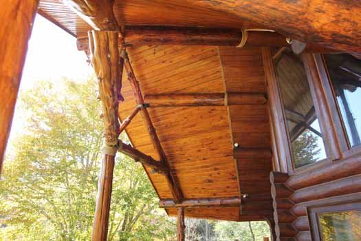 main level outside windows at waters edge lodge a 4 bedroom cabin rental located in gatlinburg