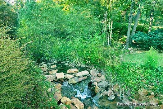 view of creek at waters edge lodge a 4 bedroom cabin rental located in gatlinburg