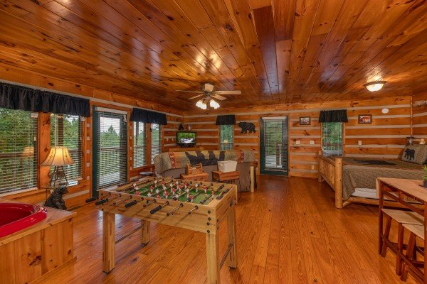 Open concept studio at Honey Bear Hideaway, a 1 bedroom cabin rental located in Pigeon Forge