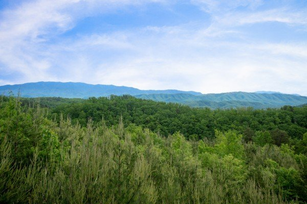 Smoky Mountain view at Mountain Bliss, a 2 bedroom cabin rental located in Pigeon Forge