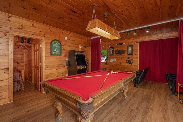 Game room at 1 Awesome View, a 3 bedroom rental cabin in Pigeon Forge