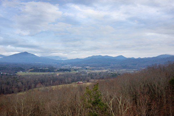 Looking across at Mt. LeConte at 1 Awesome View, a 3 bedroom rental cabin in Pigeon Forge