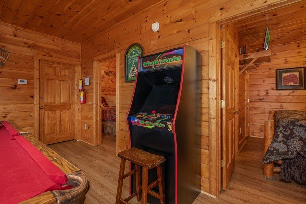 Video game at 1 Awesome View, a 3 bedroom rental cabin in Pigeon Forge