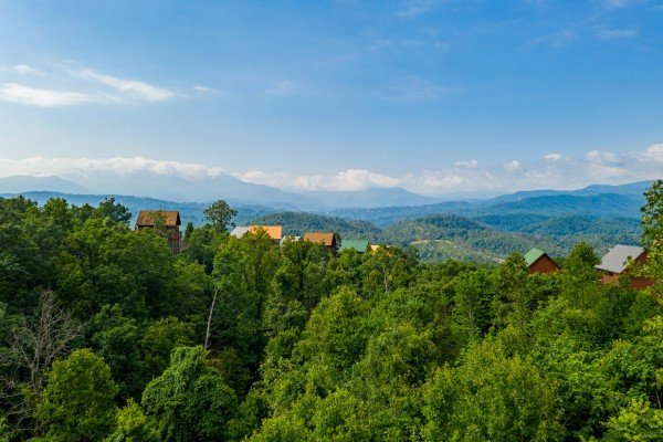 Mountain view at 1 Above the Smokies, a 2 bedroom cabin rental located in Pigeon Forge