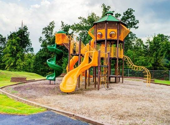 Playground area for guests at 1 Above the Smokies, a 2 bedroom cabin rental located in Pigeon Forge