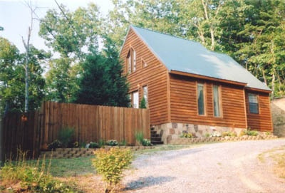front entrance exterior at mountain do a 1 bedroom cabin rental located in pigeon forge