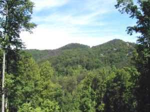 view of the smoky mountains at mountain do a 1 bedroom cabin rental located in pigeon forge