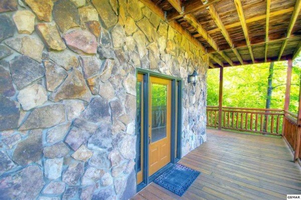 Entryway at Rising Wolf Lodge, a 3 bedroom cabin rental located in Pigeon Forge