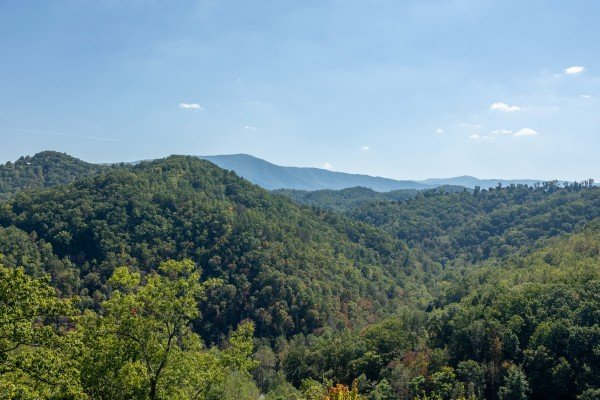 Smoky Mountain view at A Perfect Getaway, a 3 bedroom cabin rental located in Pigeon Forge