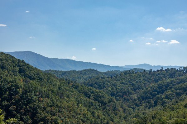 Smoky Mountains as seen from A Perfect Getaway, a 3 bedroom cabin rental located in Pigeon Forge