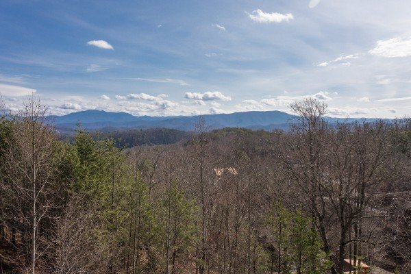 panoramic mountain views at a postcard view a 1 bedroom cabin rental located in pigeon forge