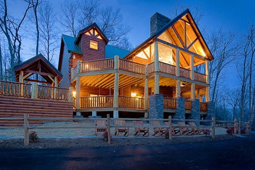 incredible! a 6 bedroom cabin rental located in gatlinburg