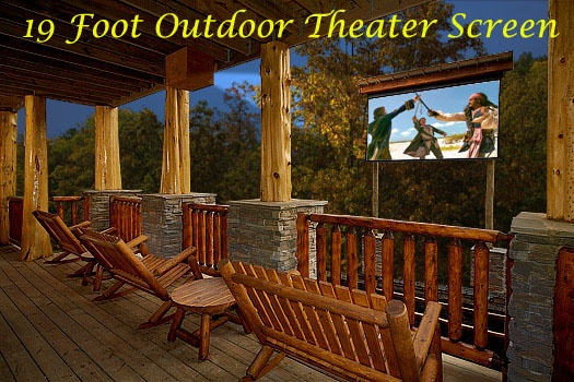 outdoor theater at incredible! a 6 bedroom cabin rental located in gatlinburg