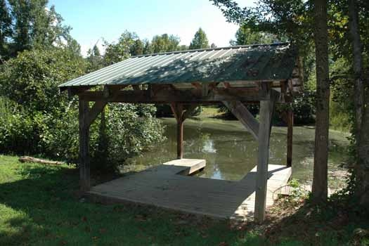 covered dock at i do a 1 bedroom cabin rental located in pigeon forge