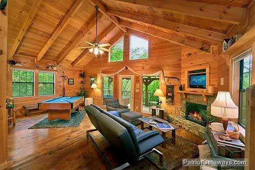 studio layout at i do a 1 bedroom cabin rental located in pigeon forge