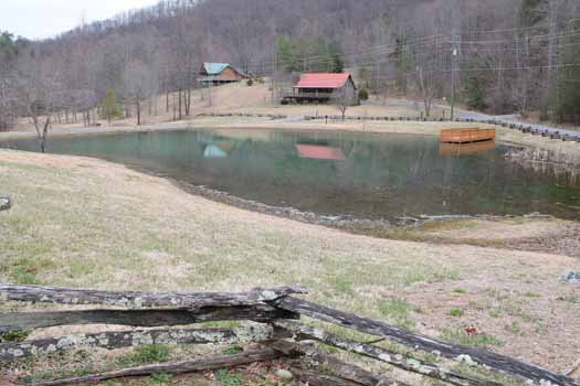 resort lake with dock at smoky mountain memories a 2 bedroom cabin rental located in pigeon forge