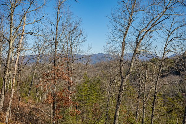 Mountain views at Mountain Magic, a 1 bedroom cabin rental located in Pigeon Forge