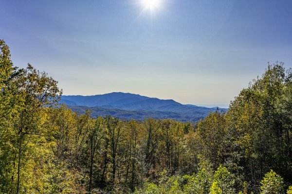 Mountain view at Grizzly's Den, a 5 bedroom cabin rental located in Gatlinburg